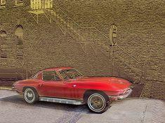 red corvette fine art print