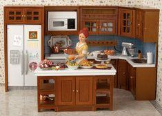 Turkey Day Busy Kitchen...Dollhouse scene
