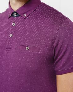 Ombre polo shirt - Purple | Tops & T-shirts | Ted Baker UK