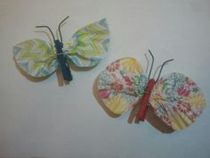 Girl Scout Swaps: Mini cupcake liner + teeny clothespin = butterfly!