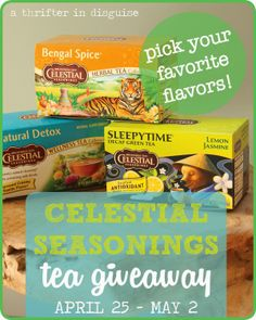 Celestial Seasonings Product Review and GIVEAWAY! Ends May 2.