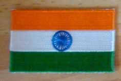 INDIA Indian Country Flag Embroidered PATCH Badge | eBay