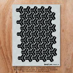 Y repeat pattern | Stencil1 to stencil on the sm bathroom floor