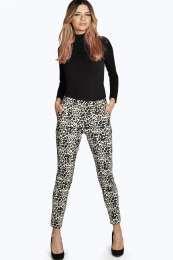 leopard cigarette trouser pants