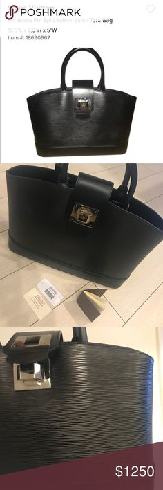 Louis vuitton mirabea pm epi leather tote bag Perfect condition, black tote matching with all styles, beautiful purse for every day or special occasions!!! Louis Vuitton Bags Totes