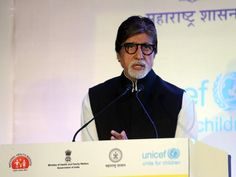 Amitabh Bachchan, a Unicef goodwill ambassador, speaks during the launch of a media campaign for Hepatitis-B organized by the Health Ministry in Mumbai on November 23, 2015.  (AFP)