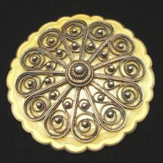 Solje Brooch Pin Enamel Sterling Silver Vintage Norway Ivar Holt Yellow