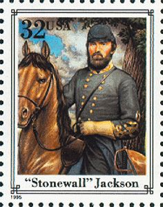 "US Stamp Gallery >> """"""Stonewall"""" Jackson"""