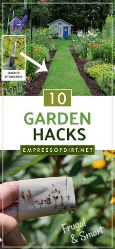 These ten smart and frugal hacks solve simple garden problems without the need to buy anything. Use what you have and save your money for the important stuff.