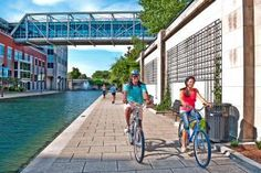 The newly finished Indianapolis Cultural Trail offers a great way to walk and bike through a city known for its monuments, sports and urban parks. More: http://www.midwestliving.com/travel/indiana/indianapolis/follow-the-indianapolis-cultural-trail/