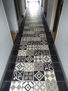 Patch Work Tile Floor, Sweet Home, Retro, Flooring, Prints, Home Decor, Homemade Home Decor, House Beautiful, Tile Flooring