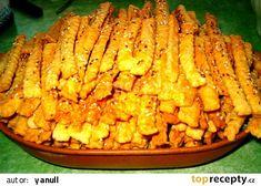 TNT - tuze návykové tyčinky :-) recept - TopRecepty.cz Breakfast Tea, Macaroni And Cheese, Tea Time, Zucchini, Carrots, Food And Drink, Pizza, Cooking Recipes, Menu
