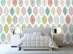 """Leaf Pod"" Wallpaper design by Wendy Kendall available at Wallpapered.com"