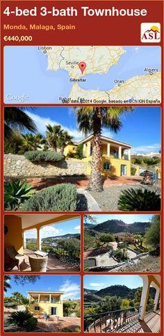 4-bed 3-bath Townhouse in Monda, Malaga, Spain ►€440,000 #PropertyForSaleInSpain