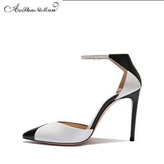 82.00$  Watch here - http://alimsj.worldwells.pw/go.php?t=32785444994 - 2017 Spring Newest Mixed colors heels Fashion Pointed Toe Women Pumps Brand designer Party Dress shoes black with white colors 82.00$