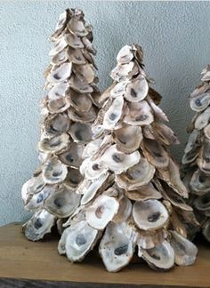 Oyster shell Christmas trees
