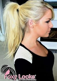 Bubble Dreams...: How To Put Your Hair Up (Ponytail) Using Clip In Hair Extensions - Tutorial (Foxy Locks)