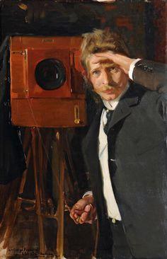 Joaquín Sorolla Bastida (1863-1923). El fotógrafo Christian Franzen. 1903. Óleo sobre lienzo. Colección Lorenzana.