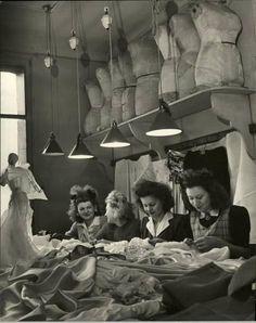 Paris dressmakers, 1946 - photo by Nina Leen