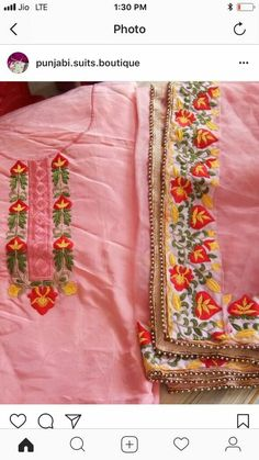 Waraich Embroidery Suits, Hand Embroidery, Machine Embroidery, Embroidery Designs, Patiala Salwar Suits, Churidar, Kurti, Simple Outfits, Simple Dresses