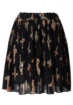 #Chic wish                #Skirt                    #Jewel #Cross #Print #Pleated #Black #Skirt         Jewel Cross Print Pleated Black Skirt                                         http://www.seapai.com/product.aspx?PID=1251095