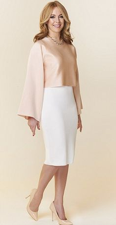 Who needs a shawl! This pink crop top, £45.99, zara.com, cleverly conceals the upper arms,...