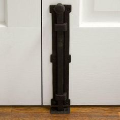 Signature Hardware Iron Surface Bolt with Rust Finish. Includes surface, rim and mortise strike plates. Rust is oxidized iron, a living finish. Ideal for double doors, install this slide bolt vertically to secure it closed while the other is open. Barn Door Locks, Barn Door In House, Bolt Lock, French Doors Patio, Patio Doors, Interior Design Elements, Iron Doors, Interior Barn Doors, Barn Door Hardware