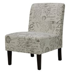 Cortesi Home Chicco Script Armless Accent Chair | Overstock.com Shopping - Great Deals on Cortesi Home Chairs