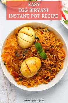 Egg Biryani is wholesome one pot meal made by cooking together fragrant long grain basmati rice and spiced hard boiled eggs topped with caramelized onions. #ministryofcurry #biryani Indian Food Recipes, Healthy Recipes, Ethnic Recipes, Ham And Egg Casserole, One Pot Meals, Easy Meals, One Pot Chef, Low Carb Rice, Perfect Hard Boiled Eggs