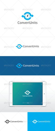 Convert Units Logo by FoxxelGraphics An excellent logo template in high quality and easy to use with editable font and colors. Included are:Ai (Cs and Cs5 version, ve