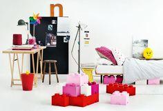 LEGO kasser til opbevaring kan nu købes online Lego Storage Boxes, Lego Storage Brick, Storage Bins, Lego Brick, Lego Boxes, Storage Cubes, Kids Storage, Storage Ideas, Lego Design