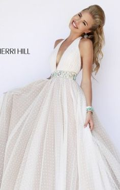 Haltered Neck Gown by Sherri Hill 11250