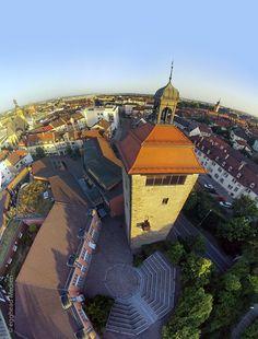 Bruchsal Bergfried Luftbild