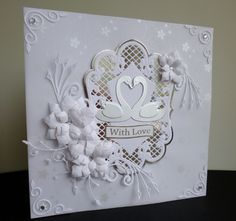 Silver Swans Celebration by sistersandie - Cards and Paper Crafts at Splitcoaststampers
