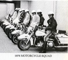 Arlington Police Department Motorcycle Division, 1976