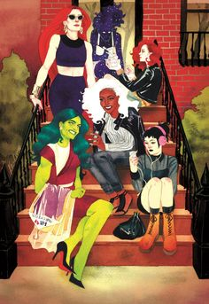 A-Force Cover B Incentive Kevin Wada Variant Cover (Secret Wars Warzones Tie-In) Comic Book Covers, Comic Books Art, Comic Art, Marvel Women, Marvel Girls, Stucky, Gi Joe, Kevin Wada, Marvel Universe