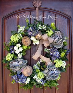 Wreath for Easter of spring