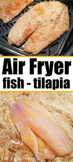 Air fryer tilapia is easy to make! Using fresh, frozen, or previously frozen fillets you can make tasty fish that's crunchy on the outside and flaky within. # Easy Recipes fish Best Air Fryer Tilapia in 10 Minutes Flat! Air Fryer Recipes Chips, Air Frier Recipes, Air Fryer Dinner Recipes, Air Fryer Recipes Easy, Fish Recipe For Air Fryer, Air Fryer Rotisserie Recipes, Air Fryer Cooking Times, Cooks Air Fryer, Air Fryer Steak