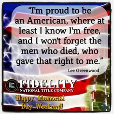 Happy Memorial Day Weekend from Fidelity National Title Company (Colorado)