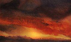"Saatchi Art Artist Maurice Sapiro; Painting, ""Red Sky At Night 3"" #art"