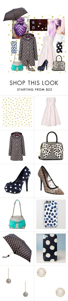 """""""Spots with Dots"""" by perpendicularpurple ❤ liked on Polyvore featuring Dot & Bo, True Decadence, Tulchan, Betsey Johnson, Office, Cath Kidston, Kate Spade and Bernard Delettrez"""