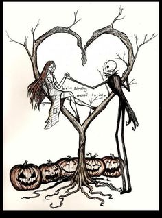 Not this design, but definitely this STYLE of drawing for my Jack and Sally…