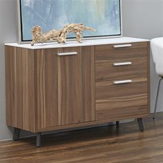 Hart Sideboard - The Hart Sideboard by Eurostyle serves as the perfect complement to the Hart Desk. Like the desk, the sideboard is designed by Marc Boudreau, who brings a . Modern Sideboard, Sideboard Buffet, Credenza, Cabinet, Storage, Furniture, Home Decor, Clothes Stand, Purse Storage
