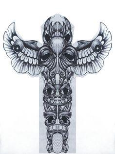 Tatuagem de totem - desenhos de tattoos