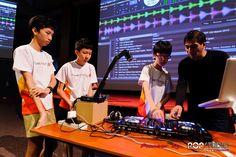 HWA CHONG INSTITUTION Young Djs DJ workshop Brendon P Jason Zheng Pop Trash Pop Studio Pioneer DDJ SX www.poptrash.sg https://www.facebook.com/poptrash
