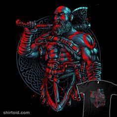 Even Gods Bleed | Shirtoid #gaming #glitchygorilla #godofwar #kratos #videogame