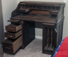Antique roll top desk - oh, the possibilities...