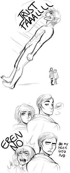 Eren, Armin & Erwin - Shingeki no Kyojin/AoT Ereri, Levihan, Anime Meme, Mikasa, Eren E Levi, Aot Armin, Aot Funny, Attack On Titan Meme, Attack On Titan