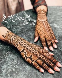 Mehndi is used for decorating hands of women during their marriage, Teej, Karva Chauth. Here are latest mehndi designs that are trending in the world. Easy Mehndi Designs, Henna Hand Designs, Dulhan Mehndi Designs, Latest Mehndi Designs, Mehndi Designs Finger, Mehndi Designs For Girls, Wedding Mehndi Designs, Mehndi Designs For Fingers, Mehndi Design Pictures