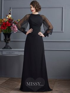 Prom Dress Beautiful, Fashion Sheath/Column Long Sleeves Beading Scoop Long Chiffon Dresses Discover your dream prom dress. Our collection features affordable prom dresses, chiffon prom gowns, sexy formal gowns and more. Find your 2020 prom dress Satin Dresses, Elegant Dresses, Beautiful Dresses, Chiffon Dresses, Chiffon Vestidos, Bride Dresses, Casual Dresses, Wedding Dresses, Long Sleeve Chiffon Dress